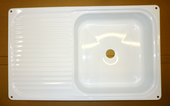 WHITE ENAMEL KITCHEN SINK